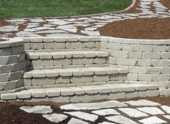 Steps and stone walkways